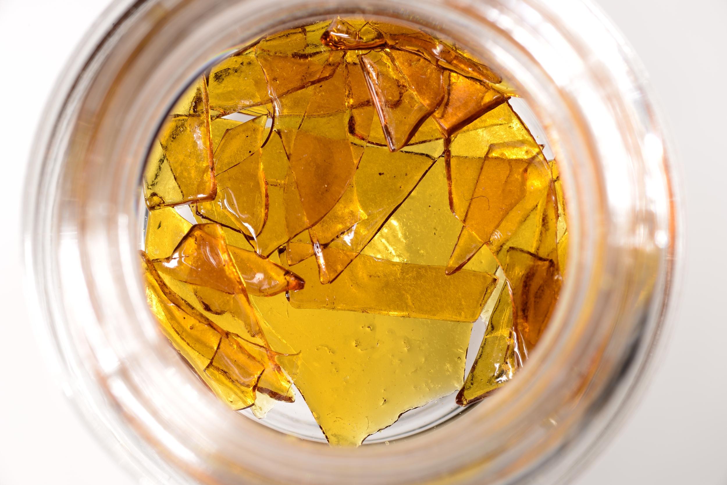 Crystal Clear Shatter Indica Banana Og Tested Weed